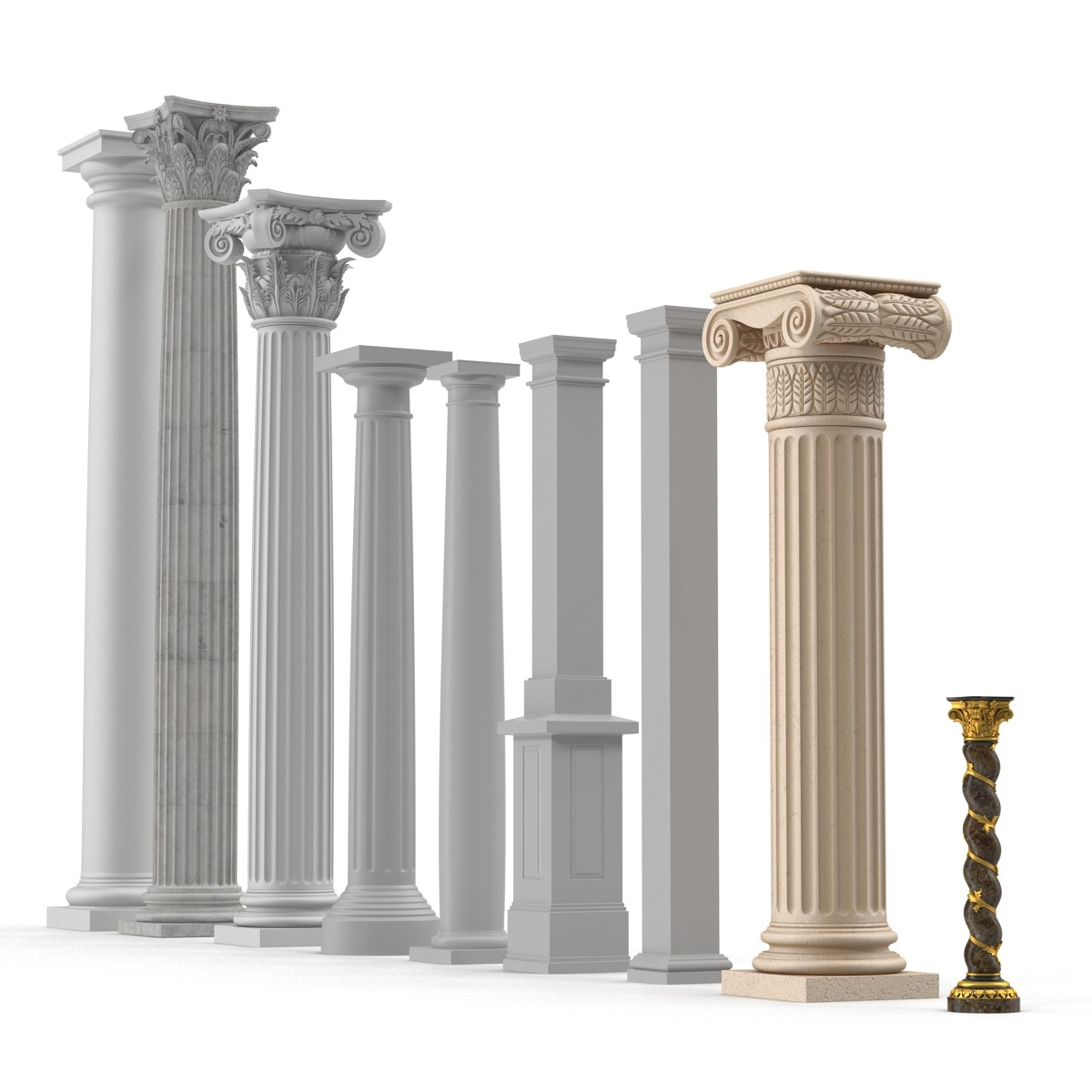 Colonna in polistirolo hd con resina effetto pietra for Finta pietra in polistirolo