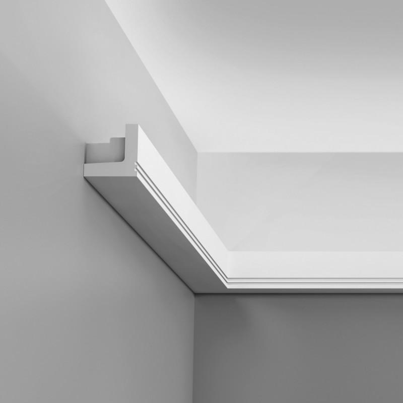 Cornice porta led in polistirolo per pareti e soffitti for Rivestimento pareti interne polistirolo